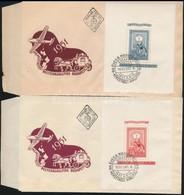1951 80 éves A Blokksor 3 FDC-n (50.000) - Timbres