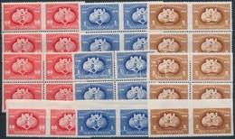 ** 1949 UPU összeállítás C Középen Fogazatlan és 2 Szélén Fogazatlan Négyestömbök + ,,D' Párok (50.000) - Timbres