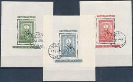 O 1951 80 éves A Magyar Bélyeg Blokksor Elsőnapi Bélyegzéssel  (42.000) - Timbres