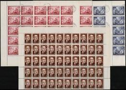 O 1952 Rákosi 60f, 2Ft Teljes ívek (40.000) + 1Ft 50-es Fél ív - Timbres