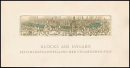 1961 A Panoráma Csík Rézmetszetes Képe  A Magyar Posta 'Magyar Blokkok' Bonni Kiállításának Meghívóján, Benne Panoráma C - Timbres
