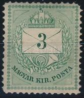 ** 1881 3kr 13-as Fogazással R! (44.000) (rövid Jobb Felső Sarokfog) - Timbres