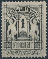(*) 1874 Távirda 1Ft 9 1/2 Fogazással (** 90.000) - Timbres