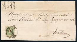 1869 3kr Helyi Levélen ,,ARAD VÁROS' - Timbres