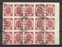 LETTLAND Latvia 1919 Michel 3 A In 15-Block O - Lettland