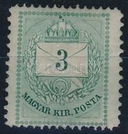* 1874 3kr 13 11 1/2 Fogazással (30.000) (enyhe Vízszintes Törés) - Timbres