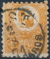 O 1871 Kőnyomat 2kr Narancs (23.500) Gyenge Felső Sarokfogak - Timbres