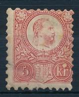 * 1871 Réznyomat 5kr (27.500) (törés, Pici Beszakadás / Crease, Small Tear) - Timbres