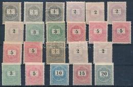 (*) * 1888-1898 Krajcáros összeállítás, Benne 22 Db Bélyeg Stecklapon (rövid Fogak, Sarokhibák) - Timbres