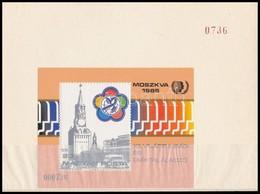 ** 1985 VIT Ajándék Blokk Sorsz. 000736 Sorszámozott Blokktartóban (20.000)  Mindössze 1.000 Db Ajándék Szet Készült! /  - Timbres