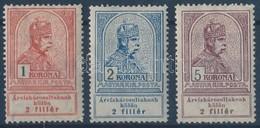 * 1913 Árvíz 1 K, 2 K, 5 K (*26.000) - Timbres
