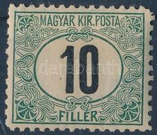 * 1903 Portó 10f 11 1/2 Fogazás (20.000) (foghibák / Short Perfs) - Timbres