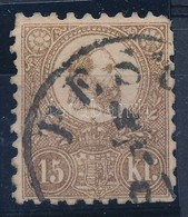 O 1871 Kőnyomat 15kr (29.000) (elvékonyodás, Rövid Fogak / Thin Paper, Short Perforations) - Timbres