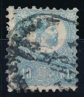 O 1871 Kőnyomat 10kr Világoskék (26.500) - Timbres