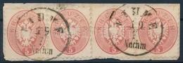 1864 5kr Négyescsík ,,FIUME' - Timbres