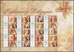 ** 2004 Karácsonyi Bélyegem (I.) - Angyalkák Promóciós Teljes ív Sorszám Nélkül (11.000) - Timbres