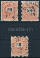 O 1898 3 Db 50kr Klf Centrált Bélyegzésekkel (min 15.000) - Timbres