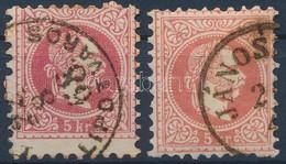 O 1867 15kr Vonalkázott Fejkép Alap + Támpéldány R! - Timbres