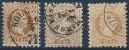 O 1867 15kr Mindhárom Színárnyalatban (15.000) - Timbres