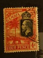 Gambie - 1922 4d SG 118 Georges V Elephant Oblitéré - Gambie (...-1964)