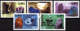 CUBA, 2004, ROCKS E MNERALS, YV#4181-85+B.192, MNH - Minerales