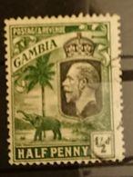 Gambie - 1922  1/2d Georges V Elephant Oblitéré - Gambie (...-1964)