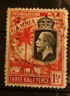 Gambie - 1922 1d1/2 Georges V Elephant Oblitéré - Gambie (...-1964)