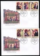 POLAND FDC 2002 POLISH & EUROPEAN SAINTS ST. STANISLAW FAUSTYNA KOWALSKA CYRIL METHODY KAZIMIERZ CATHERINE OF SIENA - FDC