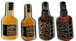 WHISKY - W17 - JACK DANIEL - 4 Bouteilles Différentes - Verso : SM - Beverages