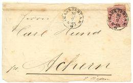 Germany, North Confed. 1870's Cover Frankfurt A.M. To Achern, Scott 4 - North German Conf.