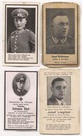 GERMANY WW2 WEHRMACHT - DEATH CARDS SOLDIERS RUSSIAN OSTEN FRONT 4 PIECES!!! - Documents Historiques