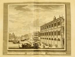 Cca 1715-1750 Domenico Lovisa (1690 K.-1750 K.): Velence: Veduta Della Zecra Sopra La Pescaria Rézmetszet, Papír, A Szer - Gravures