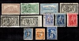 Grèce Belle Petite Collection D'anciens  Neufs Et Oblitérés 1896/1917. Bonnes Valeurs. B/TB. A Saisir! - Collections