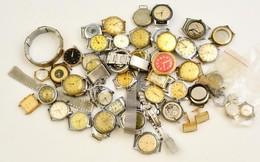 Kb 50 Darabos óratétel Javításra, Alkatrésznek. Sok Svájci, Néhány Működőképes - Bijoux & Horlogerie