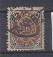 Danemark /  N 26 A / 16 Ore Gris / Oblitéré - Usati