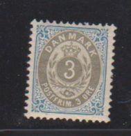 Danemark /  N 22 A / 3 Ore Bleu / NEUF Gomme Abimée - Nuovi