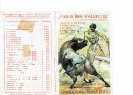 SPAIN 1980 . TAUROMAQUIA - HOJITA PROGRAMA CORRIDA 4 MAYO VALENCIA TOREROS:VICENTE RUIZ EL SORO - RICHARD KILIAN - PEPIN - Programas
