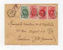 !!! PRIX FIXE : SENEGAL, LETTRE RECOMMANDEE DE FATICK DE 1908 POUR LA FRANCE - Sénégal (1887-1944)