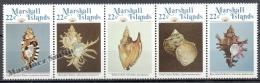 Marshall 1985 Yvert 73-77, Marine Fauna. Shells - MNH - Marshall