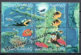 Marshall 1997 Yvert 832-35, Marine Fauna. Piscis - MNH - Marshall