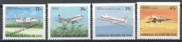 Marshall 1989 Yvert A 17a/ 20a, Aircrafts In Flight - Air Mail - MNH - Marshalleilanden