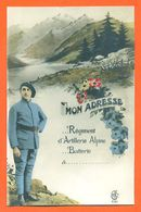 "CPA Militaria Chasseur Alpin "" Mon Adresse - à Remplir "" - Regiments"
