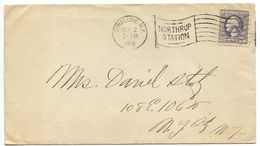 United States 1918 Cover Syracuse NY To New York NY, Flag Cancel - Brieven En Documenten