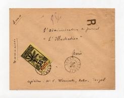 !!! PRIX FIXE : SENEGAL, 35C PALMIER SEUL SUR LETTRE RECOMMANDEE DE DAKAR POUR PARIS DE 1911 - Sénégal (1887-1944)