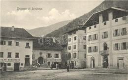 ** T1/T2 Rendena, Bazar Rendenese, Trattoria Centrale / Bazaar, Shop, Central Tavern, Inn. M. Marchetto, Trento - Cartes Postales