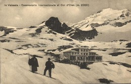 ** T3 Valle Della Sesia, Valsesia; Osservatorio Internazionale Al Col D'Olen / International Observatory In Winter (smal - Cartes Postales