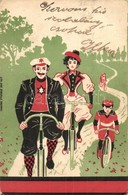 T2/T3 Family On Bicycles. Aug. Strasilla, Troppau Litho (EB) - Cartes Postales