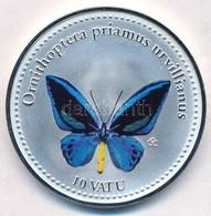 Vanuatu 2006. 10V Ezüstözött Cu-Ni 'Ornithoptera Priamus Urvillianus' T:PP Vanuatu 2006. 10 Vatu Silver Plated Cu-Ni 'Or - Unclassified