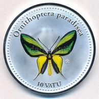 Vanuatu 2006. 10V Ezüstözött Cu-Ni 'Ornithoptera Paradisea' T:PP Vanuatu 2006. 10 Vatu Silver Plated Cu-Ni 'Ornithoptera - Unclassified