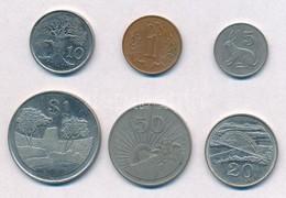 Zimbabwe 1980-1996. 1c-1$ (6xklf) T:2 Zimbabwe 1980-1996. 1 Cent - 1 Dollar (6xdiff) C:XF - Unclassified
